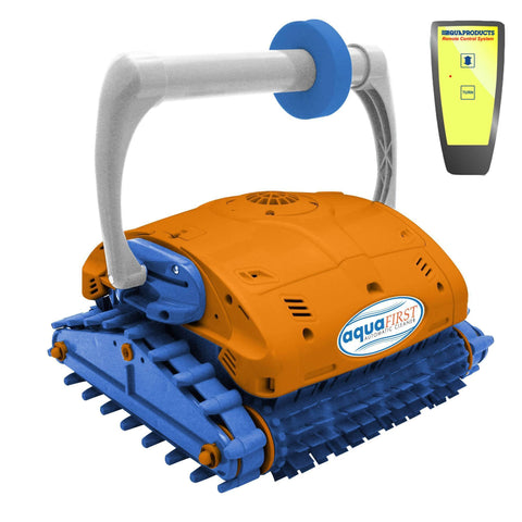 Aquafirst Turbo Robotic Wall Climber Cleaner w/ Remote Control for In Ground Pools - Houux