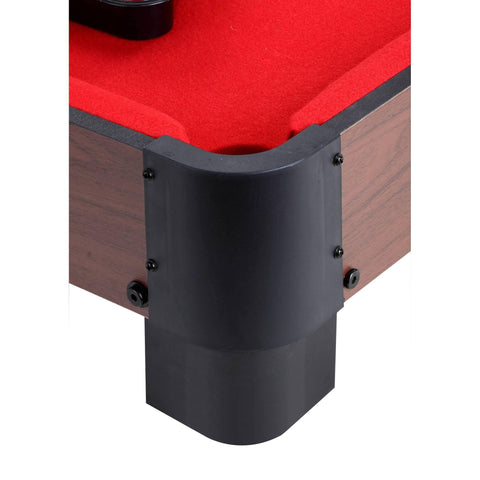 40-in Table Top Pool Table - Red - Houux