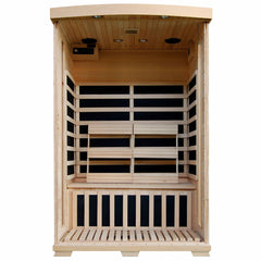 Coronado 2-Person Hemlock Deluxe Infrared Sauna w/ 6 Carbon Heaters