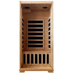 Buena Vista 1-2 Person Hemlock Infrared Sauna w/ 4 Carbon Heaters