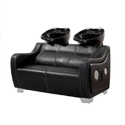 DIR Salon Two Seat Shampoo Backwash Soho with Sound System DIR 7861 - Houux
