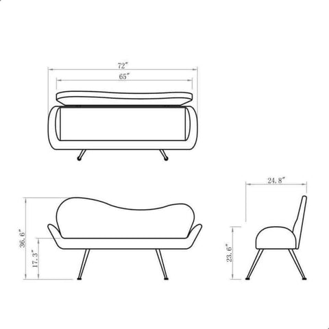 DIR Salon Waiting Bench Passione DIR 0705 - Houux