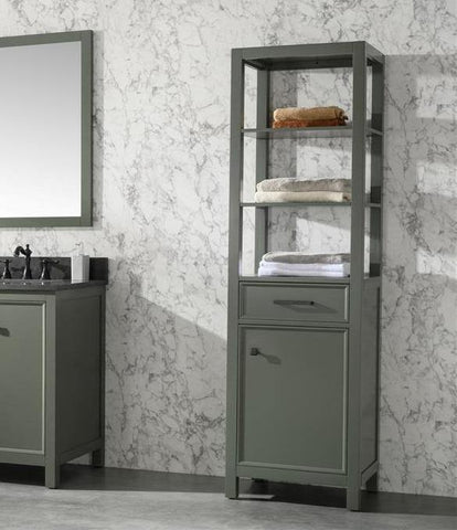 "Legion Furniture WLF2121-PG-LC 21"" Pewter Green Linen Cabinet - Houux"