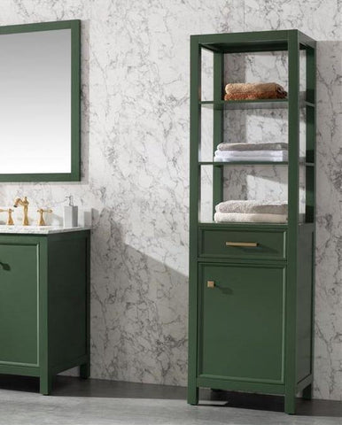 "Legion Furniture WLF2121-VG-LC 21"" Vogue Green Linen Cabinet - Houux"