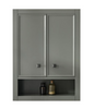 "Image of Legion Furniture WLF2124-PG-TT 24"" Pewter Green Toilet Topper Cabinet - Houux"