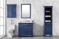 "Legion Furniture WLF2224-B-TT 24"" Blue Toilet Topper Cabinet - Houux"