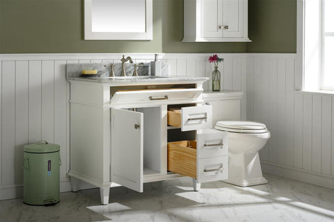 "Legion Furniture WLF2236-W 36"" White Finish Sink Vanity Cabinet With Carrara White Top - Houux"