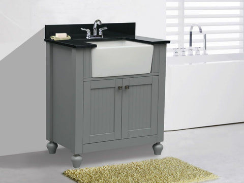 "Legion Furniture WLF6022-G 30"" Gray Sink Vanity, No Faucet - Houux"