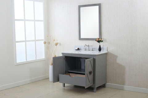 "Legion Furniture WLF7036-36 36"" Gray Sink Vanity Cabinet Match With Wlf6036-37 Top, No Faucet - Houux"