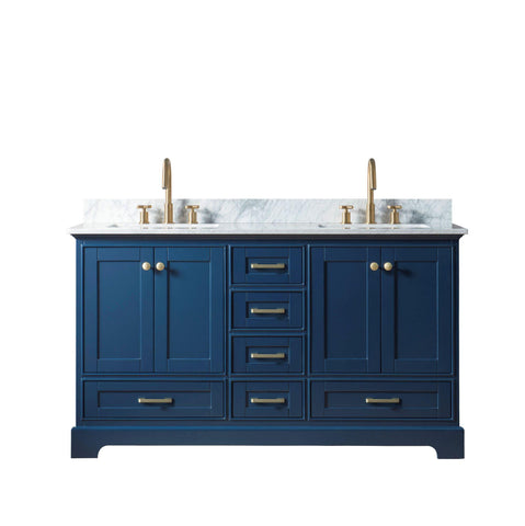 "Legion Furniture WS3360-B 60"" Solid Wood Sink Vanity Without Faucet - Houux"