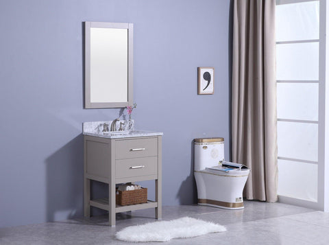 Legion Furniture WT7124-G Sink Vanity With Mirror, Without Faucet - Houux