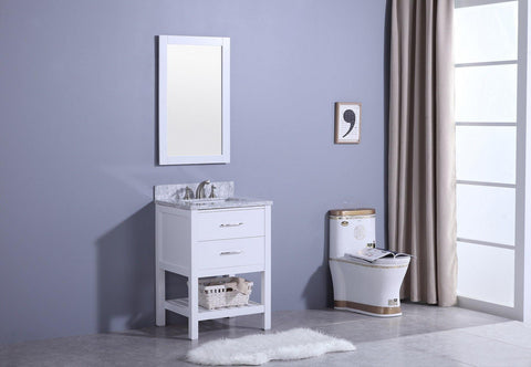 Legion Furniture WT7124-W Sink Vanity With Mirror, Without Faucet - Houux