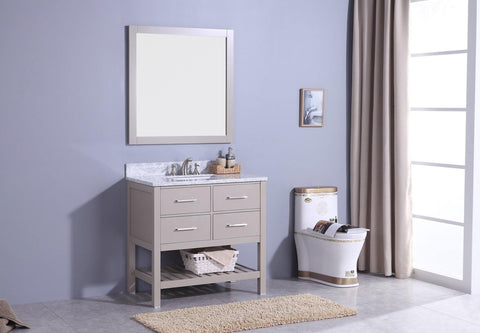 Legion Furniture WT7136-G Sink Vanity With Mirror, Without Faucet - Houux