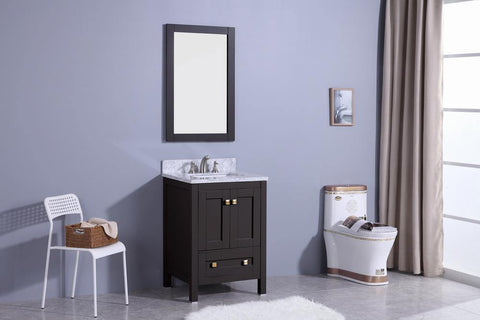 Legion Furniture WT7324-E Sink Vanity With Mirror, Without Faucet - Houux