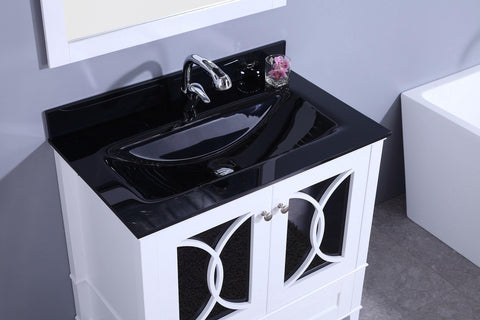 Legion Furniture WT7436-WB Sink Vanity With Mirror, Without Faucet - Houux