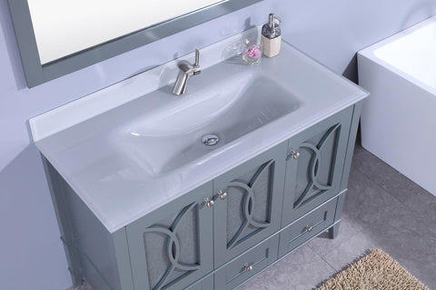 Legion Furniture WT7448-GG Sink Vanity With Mirror, Without Faucet - Houux