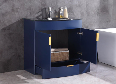 "Legion Furniture WTM8130-36-B-PVC 36"" Blue Bathroom Vanity, PVC - Houux"