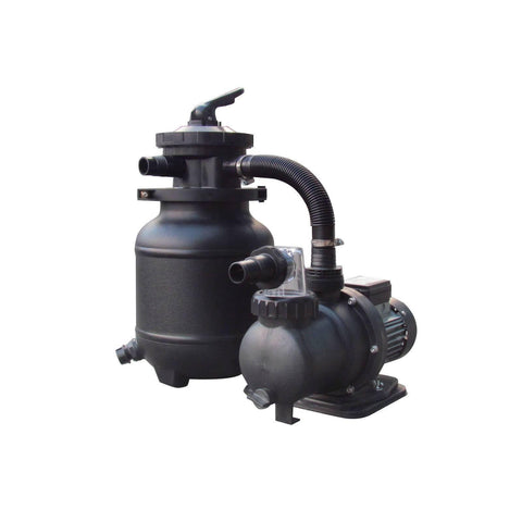 10-in, 25lb Sand Filter System for AG Pools - 1/3HP, 1850GPH - Houux