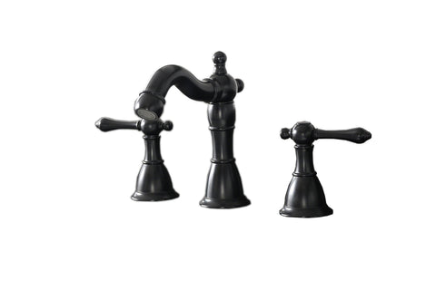 "Legion Furniture ZL20518-BL 8"" UPC Widespread Faucet With Drain, Matt Black - Houux"