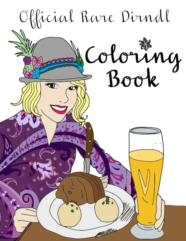 Rare Dirndl Coloring Book - Digital Download - Rare Dirndl