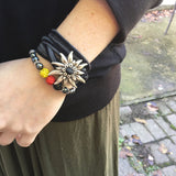 Germany & Edelweiss Stretch Bead Bracelet