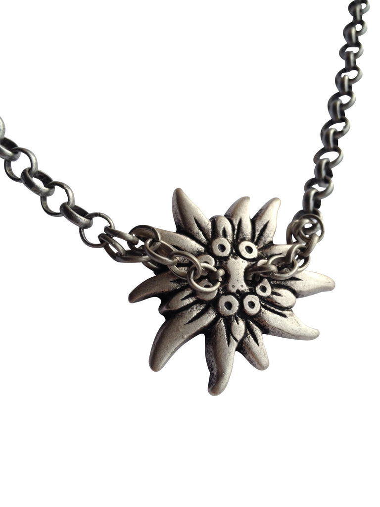 Industrial Style Edelweiss Necklace