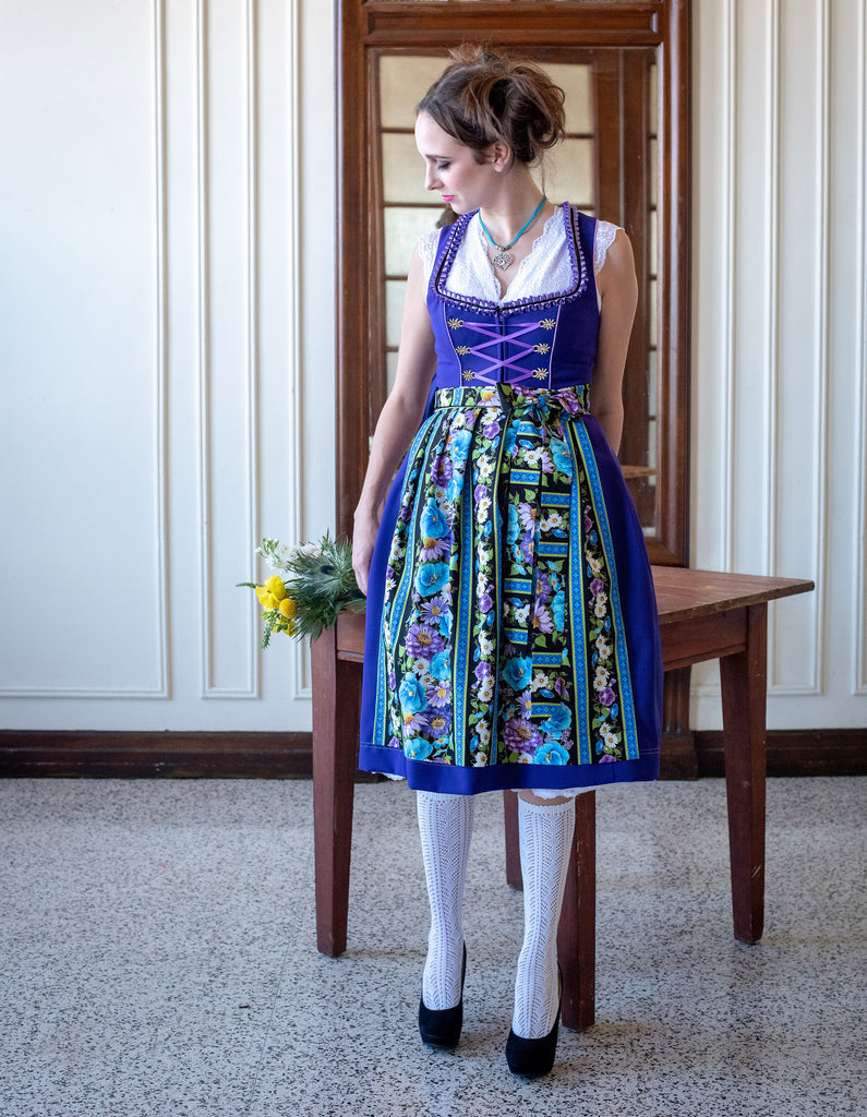 Purple & Floral Dirndl