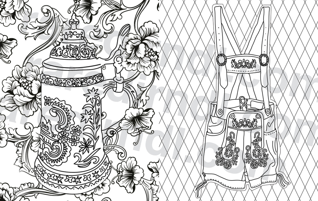 Rare Dirndl Coloring Book - Digital Download
