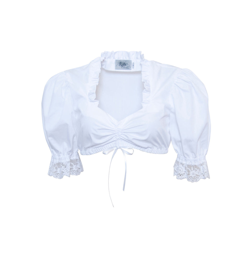 Sweetheart Blouse with Lace - Rare Dirndl