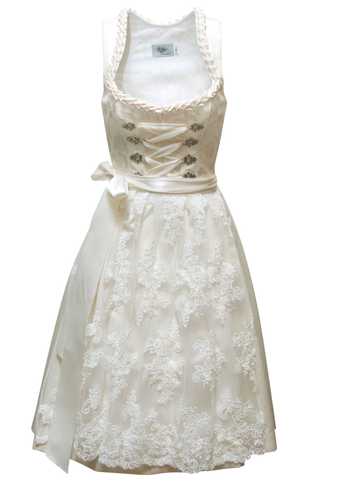 Bridal Dirndl with Semi-Sweetheart Neckline