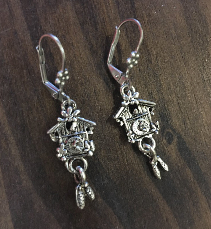 Cuckoo Clock Earrings - Rare Dirndl