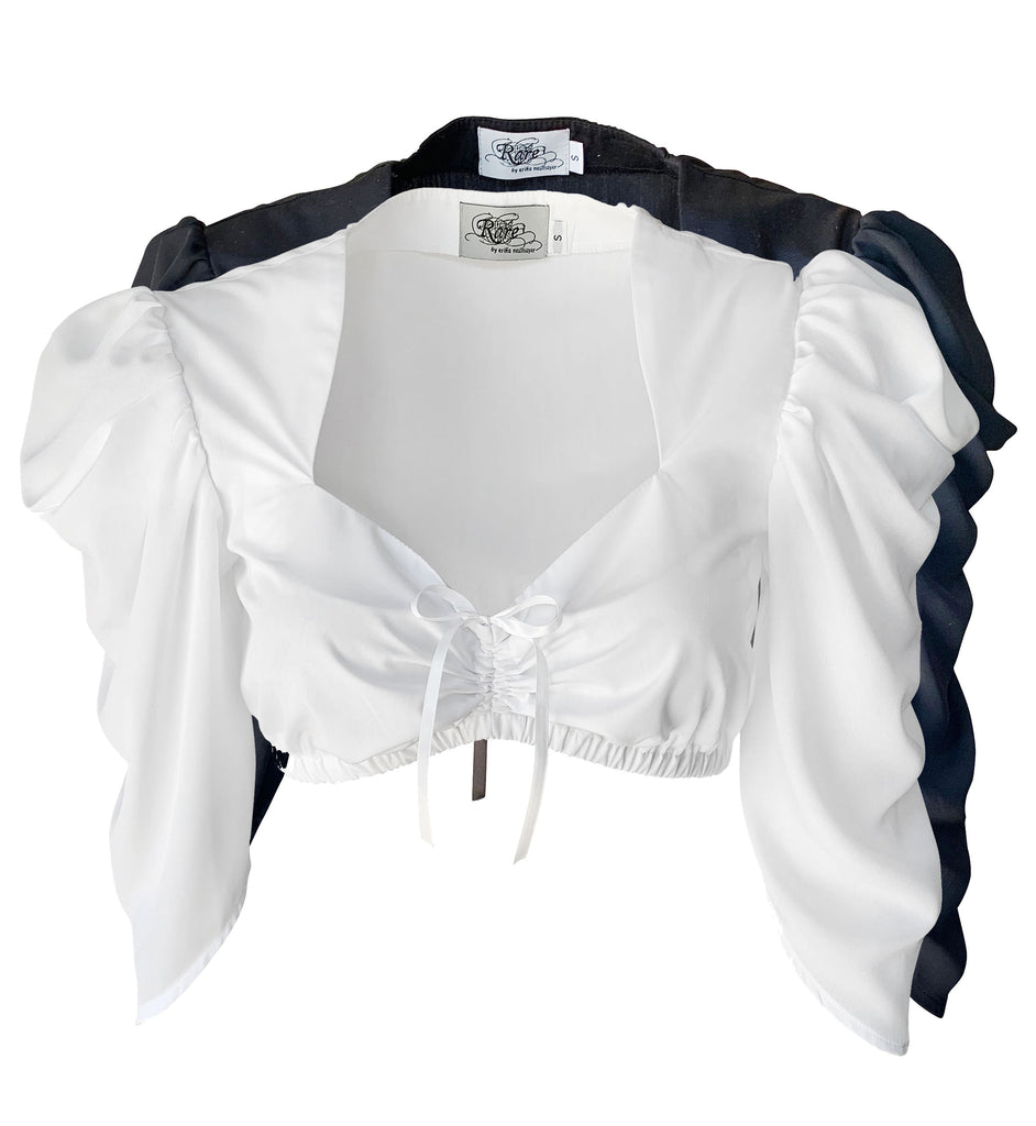 Sweetheart Blouse with Draped Sleeves - Rare Dirndl
