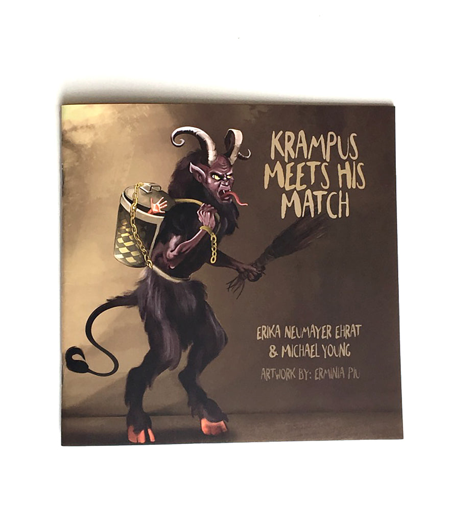"""Krampus Meets His Match"" - the Krampus Book - Rare Dirndl - Dirndl made in USA"