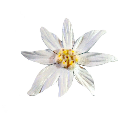Leather Edelweiss Clip