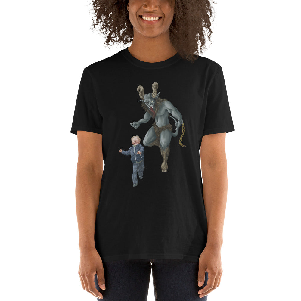 Krampus & Kiddo Short-Sleeve Unisex T-Shirt - Rare Dirndl - Dirndl made in USA