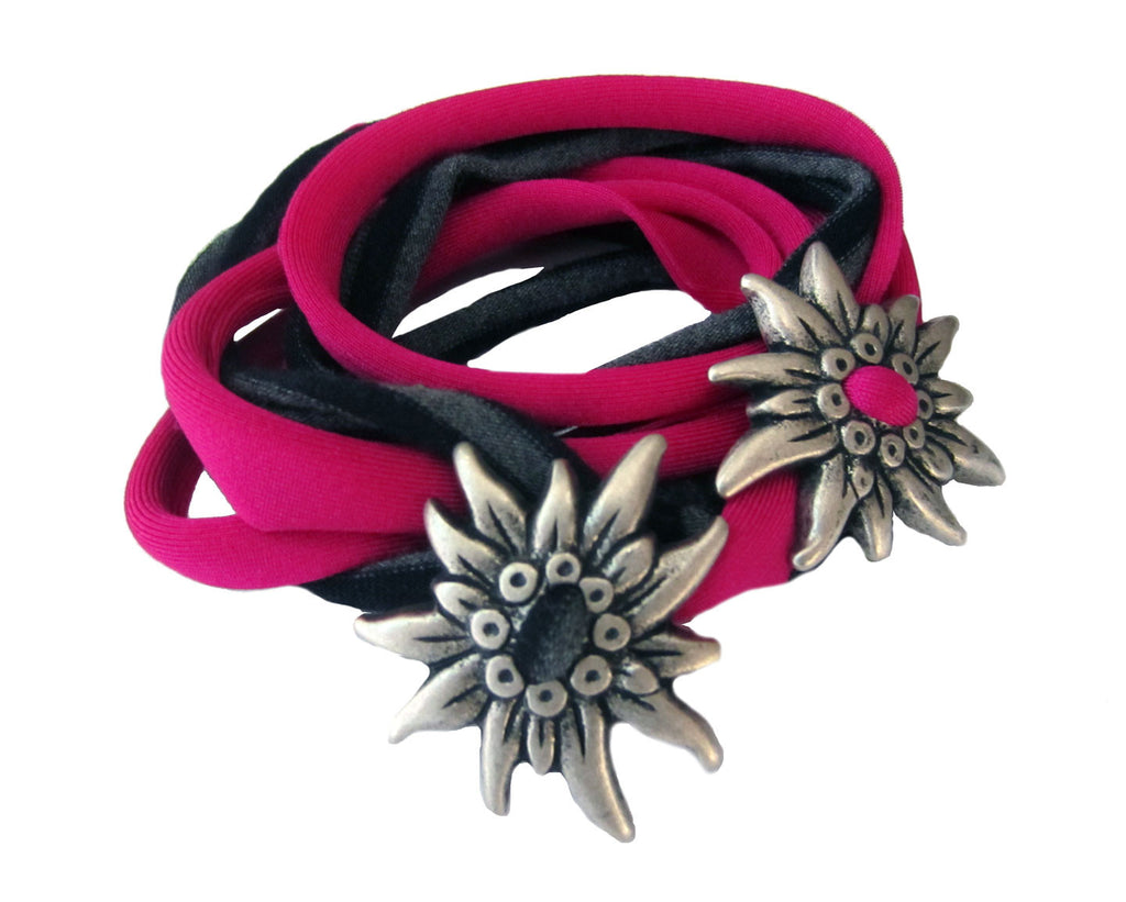 Edelweiss Wrap Bracelet Duo - Rare Dirndl - Dirndl made in USA