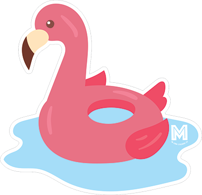 Flamingo Pool Float Sticker