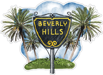 Beverly Hills Sticker