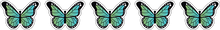 Load image into Gallery viewer, 12 Mini Gradient Butterfly Stickers