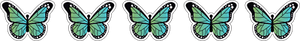 12 Mini Gradient Butterfly Stickers