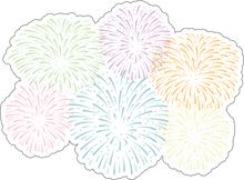 Load image into Gallery viewer, Fireworks Sticker