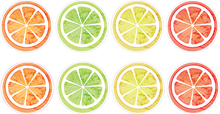 Load image into Gallery viewer, 12 Mini Citrus Stickers