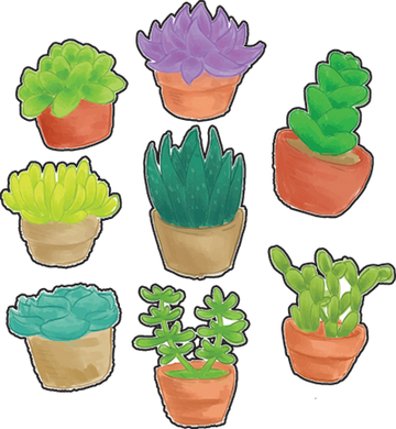8 Mini Succulent Stickers