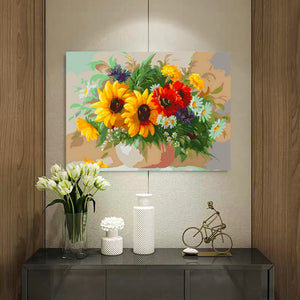 "DIY Painting By Numbers - Flowers (16""x20"" / 40x50cm)"