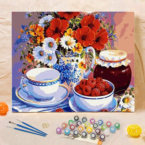 "DIY Painting By Numbers - Flowers & Fruits (16""x20"" / 40x50cm)"
