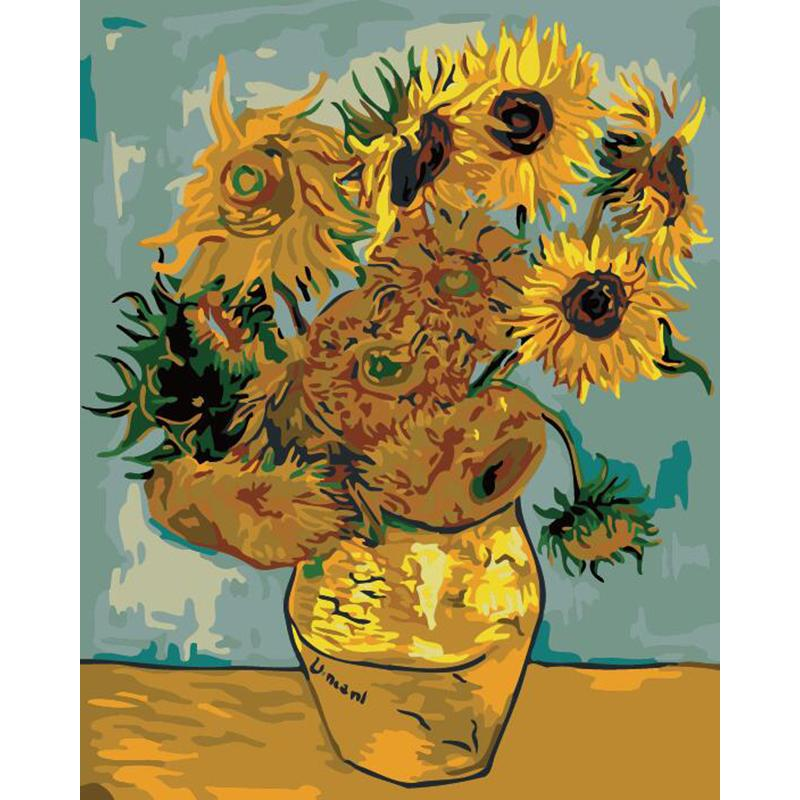 "DIY Painting By Numbers -Sunflower (16""x20"" / 40x50cm)"