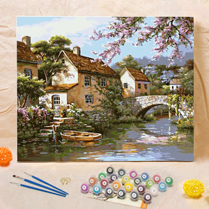 "DIY Painting By Numbers - Riverside (16""x20"" / 40x50cm)"