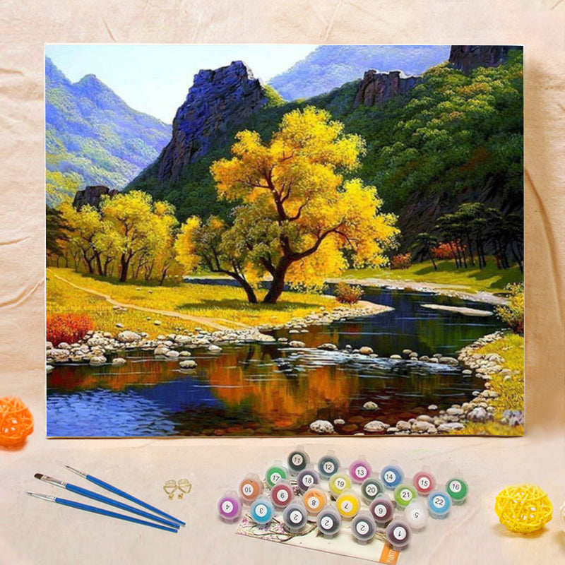 "DIY Painting By Numbers -Beautiful scenery-0223  (16""x20"" / 40x50cm)"