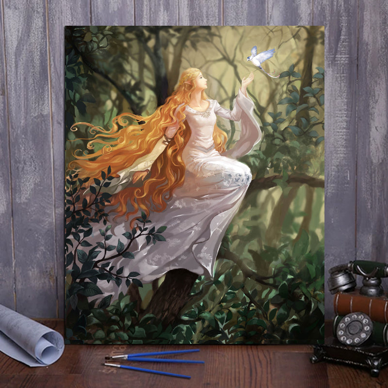 "DIY Painting By Numbers -Elven queen  (16""x20"" / 40x50cm)"