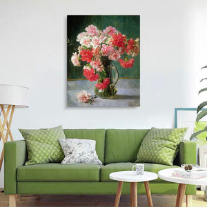 "DIY Painting By Numbers -Pink and red peony flowers  (16""x20"" / 40x50cm)"